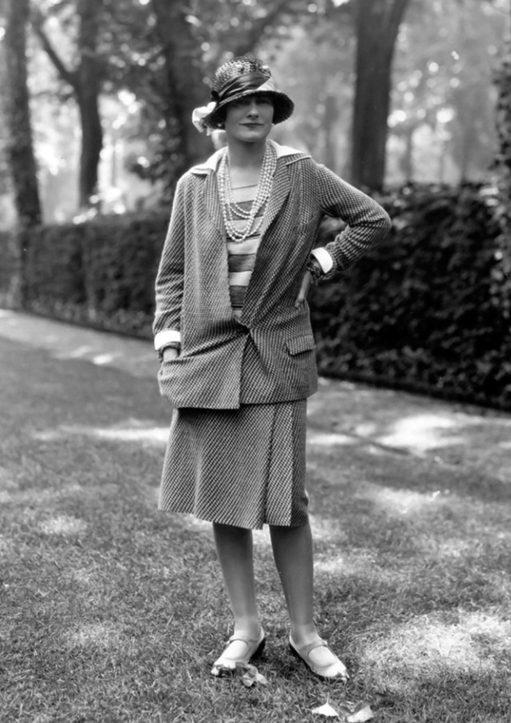 Gabrielle 'Coco' Chanel - 30 may 1929 - Modelling a Chanel Suit at Fauborg, St. Honore, Paris - Photo by Alex Stewart